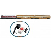 Piko H0 Passenger Double Decker Starter Set With Oval Of Track