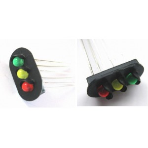 Model Railway Do It Your Self Original Type Railway Signal Mast 3 Color With Led (5Pcs) Free Shipping
