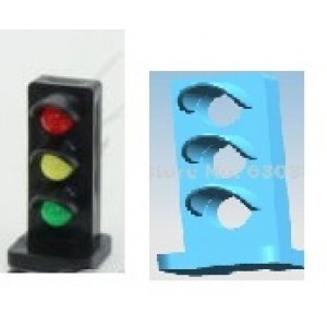 Model Railway Do It Your Self Original Type ON30/ O / G Scale  Railway Signal Mast 3 Color With Led (5Pcs) Free Shipping