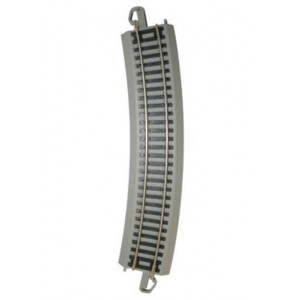 "Bachmann HO  Nickel Silver  EZ Track 22"" Radius Curve 1 pc. NEW Grey Road Bed"