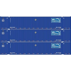 Athearn HO Model Train RTR 53' Jindo Container, APL Logistics #1 (3)