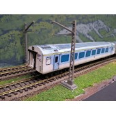 Indian Railways Shatabdi Hand Made Coaches 2 Pcs