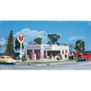 Walthers Cornerstone  Ho  Al's Victory Service Gas Station Walthers Cornerstone #3072