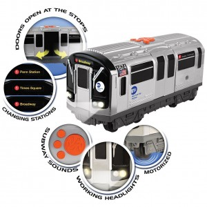 Daron  NYC MTA Battery Subway Car w/Lights & Sound & Working Doors