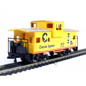 Bachmann Ho Scale American 36ft wide vision caboose in Chessie livery