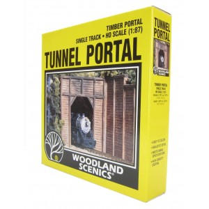 Woodland Scenics  Tunnel Portals - Single track - Timber