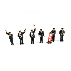 Bachmann Scenecraft : N Scale  Station Staff (6)