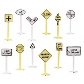 Bachmann N Scale Railroad and Street Signs (24 pieces)