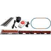 Piko Ho 57138 Model Train DR BR119 Diesel Freight with 3 Freight Cars and Oval Of Track with Railbed