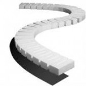"Woodland Scenics Foam Riser For Elevated Track - 1"" High - 2.5"" Wide - Pack Of 4"