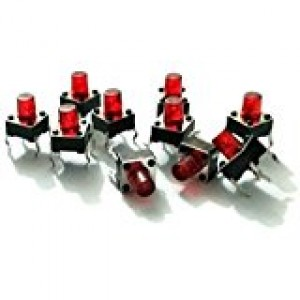 4-Pin  Medium Shaft Square Push Switch x 10 Pcs