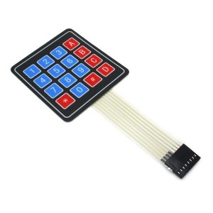 16 Key - 4x4 Matrix - Membrane Type Keypad  x 1 Pc