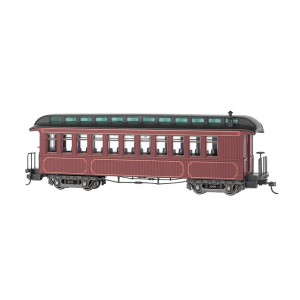 Bachmann Spectrum On30 Burgundy & Black, Unlettered - Coach/Obser. w/ Lighted interior