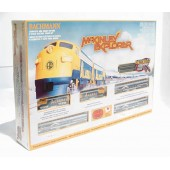 "Bachmann  ""N"" Scale Alaska McKinley Explorer New Train Set WIth Model Power Nickel Silver Oval Of Tracks & Piko Controller"