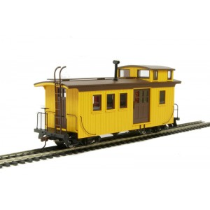 Bachmann Spectrum On30 Wood side door caboose (with lighting) - Painted, unlettered (yellow & black)