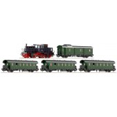 Roco Set Steam rail car series 71.5 of the DRB w/passenger train (A Rare To Get Artcle Of IInd World War)
