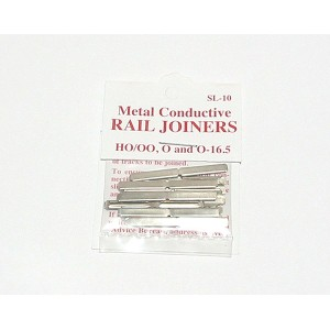 Peco SL-10  Rail Joiners, Nickel Silver Code 100 (Fish Plates) 24pcs.