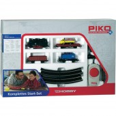 Piko Model Train H0 57111 Start-Set Steam Locomotive with Freight train with Oval Of track