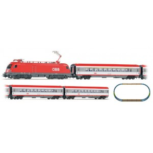 Piko Model Train ÖBB Taurus IC Starter Set With 3 Passenger Coaches & Station Loop