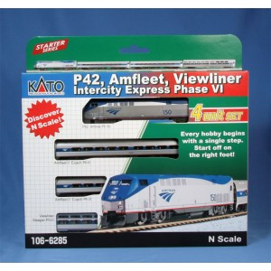 Kato N P42 Amfleet Viewliner Intercity Express Phase VI 4-Car Set