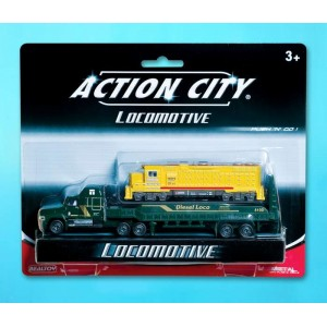 Daron  Action City Locomotive Transporter - Yellow