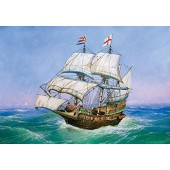 "ZVEZDA 1/350 Sir Francis Drake's Flagship ""Golden Hind"" # 6509 Model Kit (Free Shipping)"