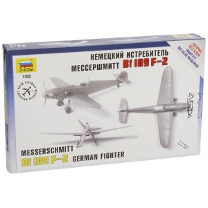 ZVEZDA Messerschmitt Bf 109 F-2 - German Fighter - (7302) - Scale 1/72 Model Kit  (Free Shipping)
