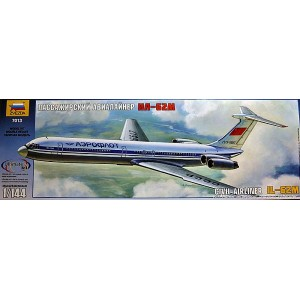 Zvezda Models Ilyushin IL-62M Civil Airliner Model Kit  (Free Shipping)