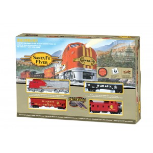 Bachmann  Santa Fe Flyer Ready - to - Run HO Scale Electric Model Train Set