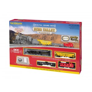 Bachmann HO Scale Echo Valley Express with Digital Sound & Digital Ez Command Controller