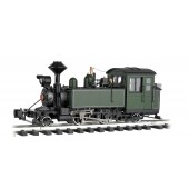 Bachmann Steam Loco- Painted Unlettered Green/Black w/ White Pinstripes