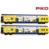 Piko Metronom Double Deck Passenger Coaches x 2 Pcs
