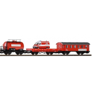 Piko DB Fire Train Frieght Car/Coaches x 3 Pcs
