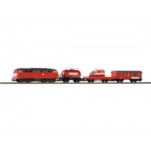 Piko Class 218 Diesel Dcc Locomotive With DB Fire Train 3 Coaches  Set No Track No Controller