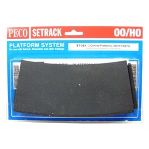 Peco ST-293 2 curved platforms, Stone Edging Platform
