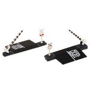 Bachmann N Road Crossing Gates and Signals (2 piece set)
