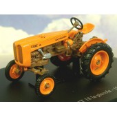 HACHETTE DIECAST TRACTOR 1/43 1956 FIAT18 LA PICCOLA TRACTOR IN ORANGE & BROWN TR56 (Free Shipping)