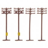 Model Power N Scale Telephone Poles (10) Brand New No Box Packed In Polybag