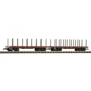 PIKO  Flat Car w/Stakes D&RGW, set of 2 Can Be Used For Serving Drinks Or Food