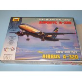 ZVEZDA 1/144 Airbus A-320 Civil Airliner Model Kit  (Free Shipping)