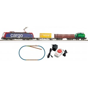 Piko Model Train  57187 Ho Starter Set BR 185 w 3 Freight Cars