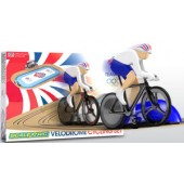SCX Scalextric Team GB Velodrome 2012: Track Cycling 1:64 Scale Race Set (Free Shiping)