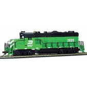 Mantua Classics HO  EMD GP-20, Burlington Northern #2020 (DCC and Sound Equipped With RF Remote)