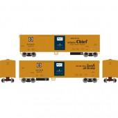 ATHEARN  HO 50' SMOOTH SIDE MECHANICAL REEFER, SANTA FE #2074